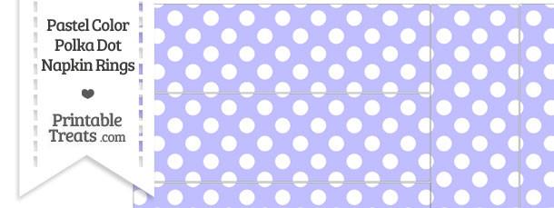 Pastel Purple Polka Dot Napkin Rings