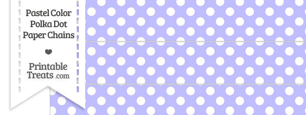 Pastel Purple Polka Dot Paper Chains