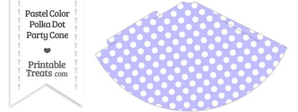 Pastel Purple Polka Dot Party Cone