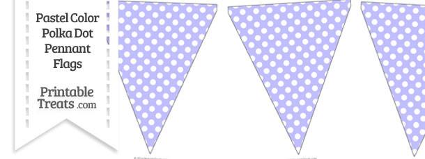 Pastel Purple Polka Dot Pennant Banner Flag