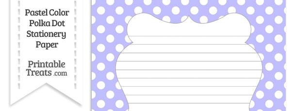 Pastel Purple Polka Dot Stationery Paper
