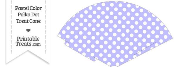 Pastel Purple Polka Dot Treat Cone