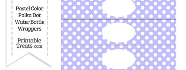 Pastel Purple Polka Dot Water Bottle Wrappers
