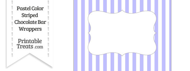 Pastel Purple Striped Chocolate Bar Wrappers