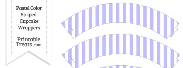 Pastel Purple Striped Cupcake Wrappers