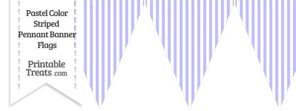 Pastel Purple Striped Pennant Banner Flag