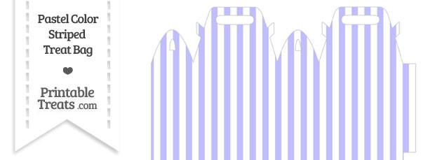 Pastel Purple Striped Treat Bag