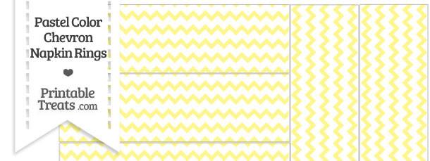 Pastel Yellow Chevron Napkin Rings