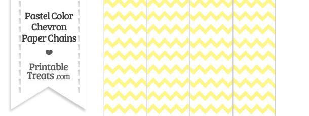 Pastel Yellow Chevron Paper Chains