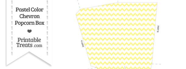 Pastel Yellow Chevron Popcorn Box