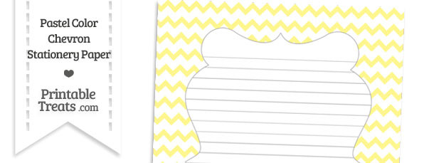 Pastel Yellow Chevron Stationery Paper