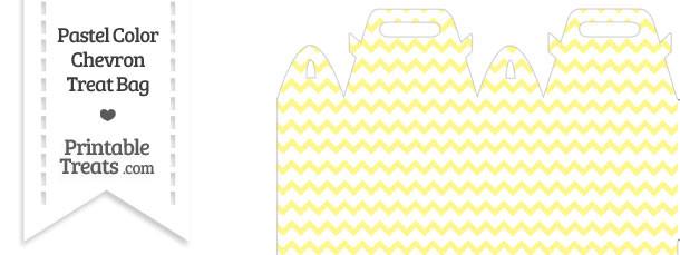 Pastel Yellow Chevron Treat Bag