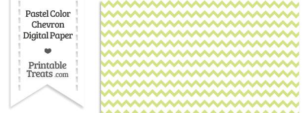 Pastel Yellow Green Chevron Digital Scrapbook Paper