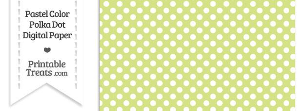 Pastel Yellow Green Polka Dot Digital Scrapbook Paper