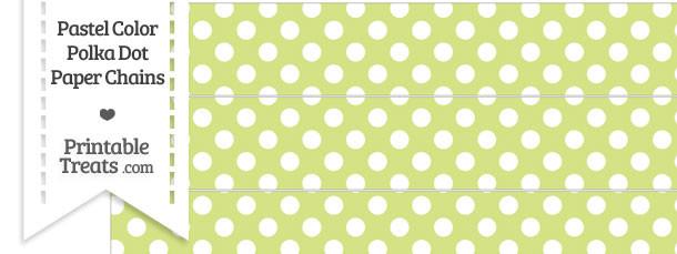Pastel Yellow Green Polka Dot Paper Chains