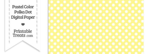 Pastel Yellow Polka Dot Digital Scrapbook Paper