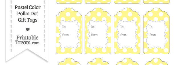 Pastel Yellow Polka Dot Gift Tags
