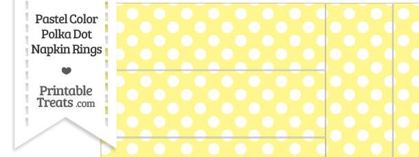 Pastel Yellow Polka Dot Napkin Rings