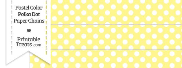 Pastel Yellow Polka Dot Paper Chains