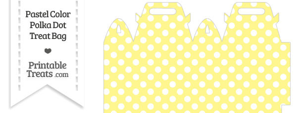 Pastel Yellow Polka Dot Treat Bag