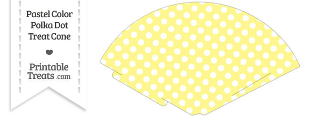 Pastel Yellow Polka Dot Treat Cone