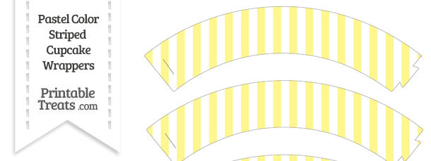 Pastel Yellow Striped Cupcake Wrappers
