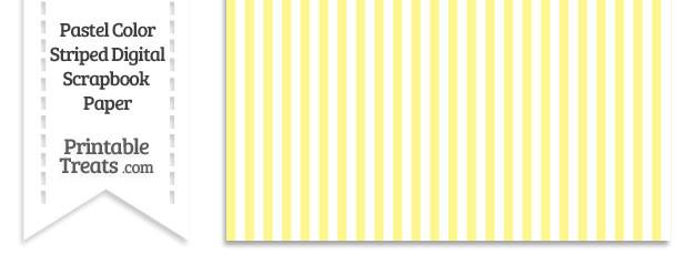 Pastel Yellow Striped Digital Scrapbook Paper