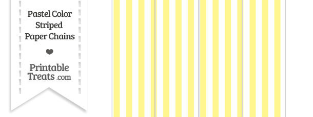 Pastel Yellow Striped Paper Chains