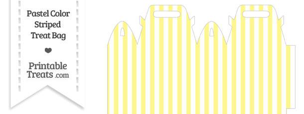 Pastel Yellow Striped Treat Bag