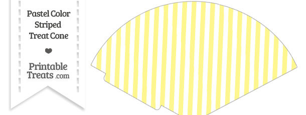 Pastel Yellow Striped Treat Cone