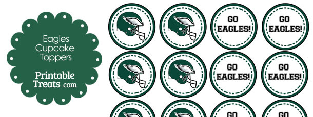Philadelphia Eagles Cupcake Toppers