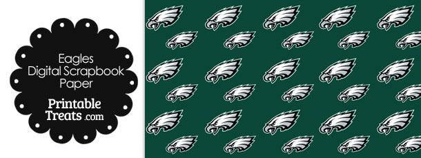 Philadelphia Eagles Logo Digital Paper