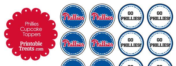 Philadelphia Phillies Cupcake Toppers