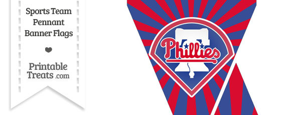 Philadelphia Phillies Mini Pennant Banner Flags
