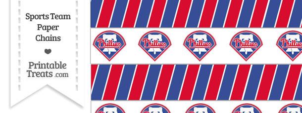 Philadelphia Phillies Paper Chains