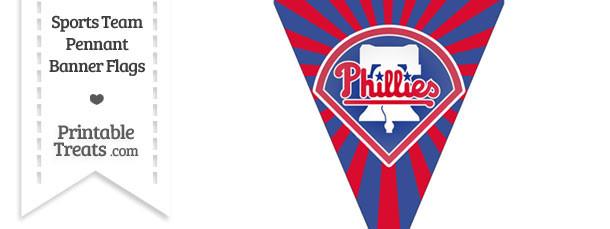 Philadelphia Phillies Pennant Banner Flag
