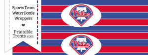 Philadelphia Phillies Water Bottle Wrappers