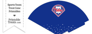 Phillies Treat Cone Printable