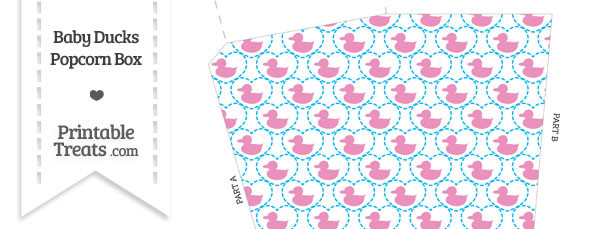 Pink Baby Ducks Popcorn Box