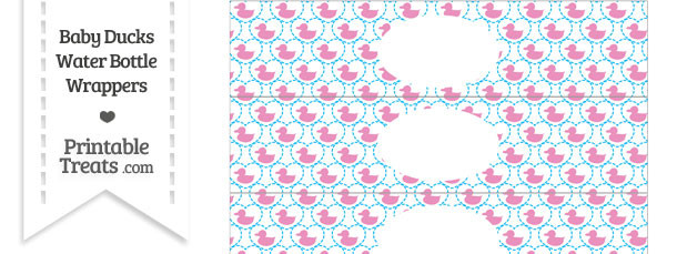 Pink Baby Ducks Water Bottle Wrappers
