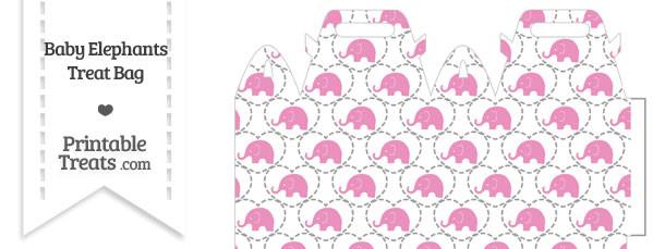Pink Baby Elephants Treat Bag