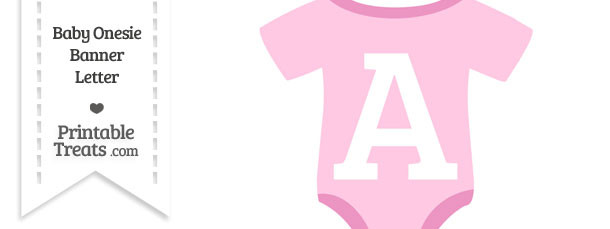 Pink Baby Onesie Shaped Banner Letter A