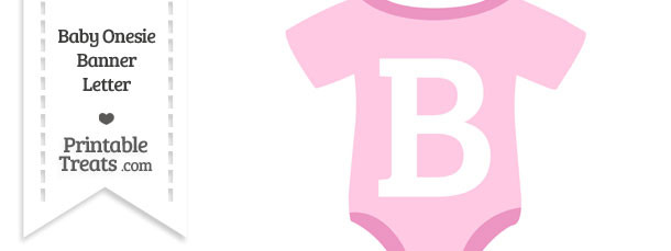 Pink Baby Onesie Shaped Banner Letter B