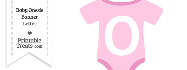 Pink Baby Onesie Shaped Banner Letter O