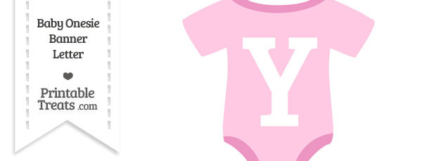 Pink Baby Onesie Shaped Banner Letter Y