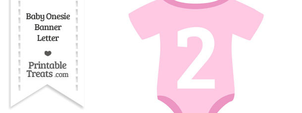 Pink Baby Onesie Shaped Banner Number 2