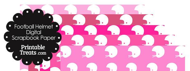 Pink Background Football Helmet Digital Scrapbook Paper