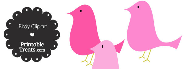 Pink Birdy Clipart