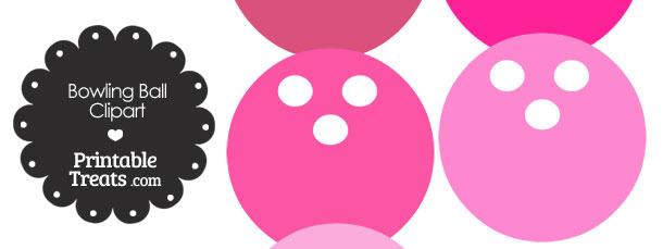 Pink Bowling Ball Clipart