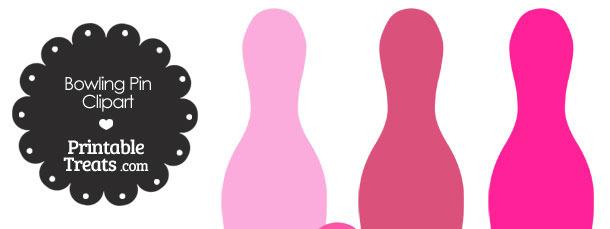 Pink Bowling Pin Clipart